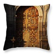 Mexican Door 31 Throw Pillow