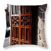 Mexican Door 42 Throw Pillow