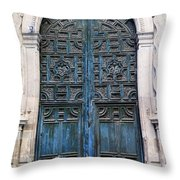 Mexican Door 6 Throw Pillow