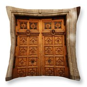 Mexican Door 67 Throw Pillow