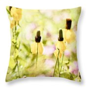 Mexican Hat In Yellow Throw Pillow