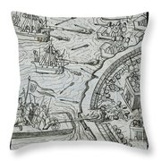 Mexico - Spanish Conquest Throw Pillow