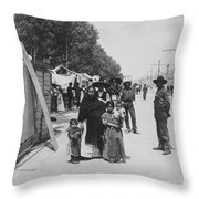 Mexico City - Alameda During Holy Week - C 1906 Throw Pillow