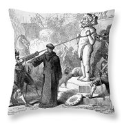 Mexico: Spanish Conquest Throw Pillow