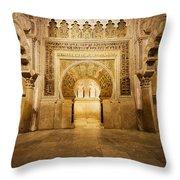 Mezquita Mihrab In Cordoba Throw Pillow