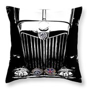 Mg Grill With Dash Of Color Throw Pillow