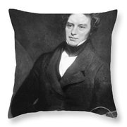 Michael Faraday, English Chemist Throw Pillow