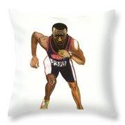 Michael Johnson Throw Pillow