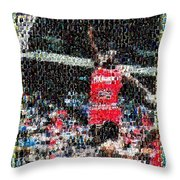 Michael Jordan Rookie Mosaic Throw Pillow