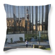 Michael Marks Building Throw Pillow