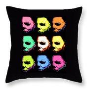 Michael Myers Mask Pop Art Throw Pillow