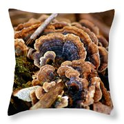 Michigan Fungus Throw Pillow