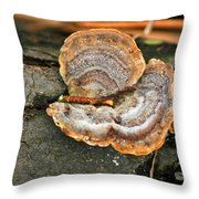 Michigan Golden Fungus Throw Pillow