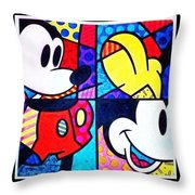 Mickey Colors Throw Pillow