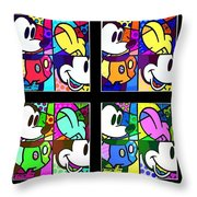 Mickey In Colors Throw Pillow