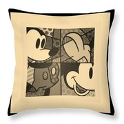 Mickey In Sepia Throw Pillow