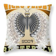Micro Flight Butterfly Throw Pillow