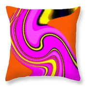 Micro Linear 23 Throw Pillow