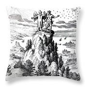 Microcosm, Macrocosm, 17th Century Throw Pillow