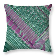 Micrograph Of Chip Throw Pillow
