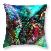 Microscope Dreaming 2 Throw Pillow