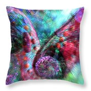 Microscope Dreaming 3 Throw Pillow