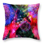 Microscope Dreaming 4 Throw Pillow