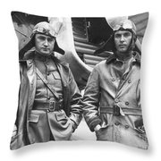 Mid-air Refueling Aviators At Rockwell Throw Pillow