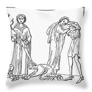 Middle Ages: Knighting Throw Pillow