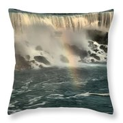Middle America Rainbow Throw Pillow