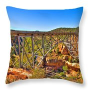 Midgley Bridge Sedona Arizona Throw Pillow