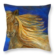 Midnight Amber Throw Pillow