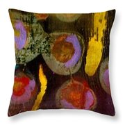 Midnight Baubles Throw Pillow