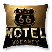 Midnight On 66 Throw Pillow