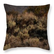 Midnight Sage Brush Throw Pillow