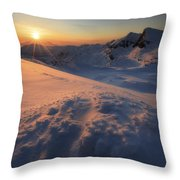 Midnight Sun Above Lilletinden Throw Pillow