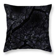 Midnight Tree 1 Throw Pillow