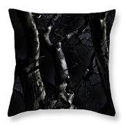 Midnight Tree 3 Throw Pillow