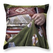 Midsection Of Apprentice Geisha - Maiko Throw Pillow