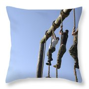 Midshipmen Tackle The Ropes Portion Throw Pillow