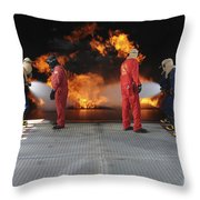 Midshipmen Work Together To Battle Throw Pillow