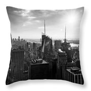 Midtown Skyline Infrared Throw Pillow