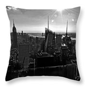 Midtown South Bw Throw Pillow