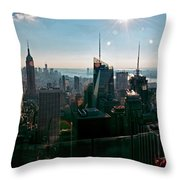 Midtown South Throw Pillow