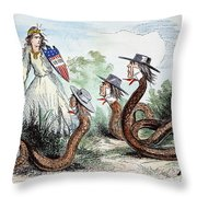 Midwest Copperheads, 1863 Throw Pillow