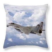 Mig29 Pastel Throw Pillow