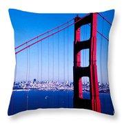 Mighty Golden Gate Throw Pillow