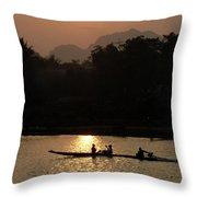 Mighty Mekong Throw Pillow