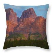 Mighty Mountains Throw Pillow