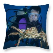 Mike And The Crab Throw Pillow